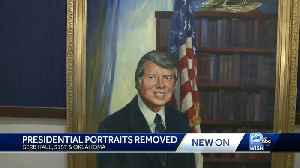 Complaints lead banquet hall to remove presidential portraits [Video]