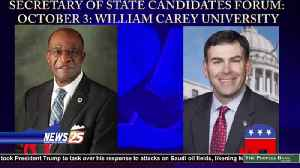 William Carey University Setting the Stage for Secretary of State Candidates Debate [Video]