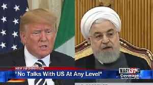 Iran Says No Talks With U.S At Any Level [Video]