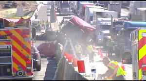 Dump truck driver cited in crash that closed I-78 West [Video]
