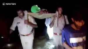 Policemen in India carry pregnant woman on cot for a mile after ambulance fails to reach home [Video]