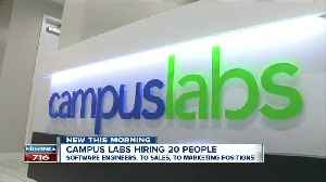 Campus Labs hiring 20 people to add to Main Street office [Video]