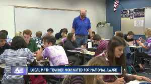 Local math teacher earns award for excellence in math & science teaching [Video]
