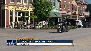 Pewaukee is looking to ban e-cigarettes [Video]