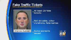Dallas Officer Matthew Rushing Pleads Guilty To Writing Fake Tickets [Video]