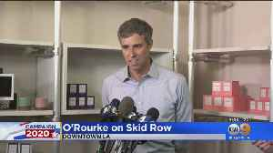 Beto O'Rourke Tours Skid Row During SoCal Visit [Video]