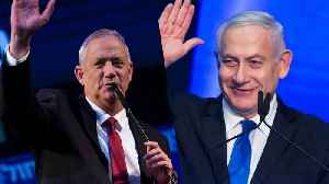 Israel election: Exit polls show Netanyahu trails rival Gantz
