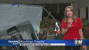 1 Injured After 18-Wheeler Goes Off Bridge In Kaufman County [Video]