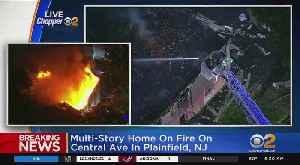 House Fire In Plainfield, N.J. [Video]