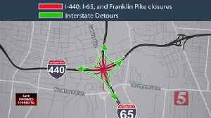 I-65, 440 interchange closure expected to cause traffic backup [Video]