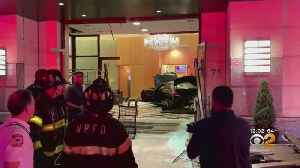 News video: Car Crashes Into Lobby Of Trump Plaza In New Rochelle