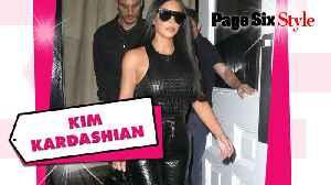 News video: Kim Kardashian's Matrix-inspired leather look was worth nearly $45K