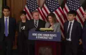 'We stand as one': Hong Kong activist with Pelosi [Video]