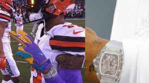 Odell Beckham Jr Signs Watch Deal After Sporting FAKE $2 Million Richard Mille Watch During Game [Video]