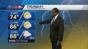 Thursday will be warm, muggy [Video]