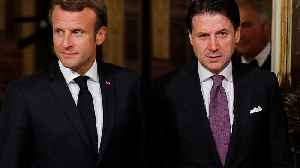 Emmanuel Macron and Giuseppe Conte talk migration policy in Rome [Video]