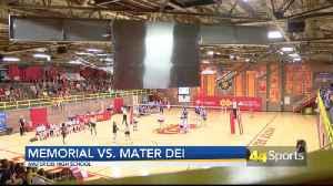 HS VB: Memorial Tops Mater Dei [Video]