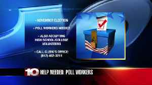 Election leaders in need of poll workers for November election [Video]