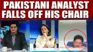 Pakistani analyst falls off his chair on a live debate show, video goes viral |OneIndia News [Video]