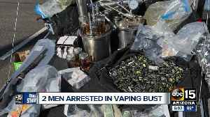 Two men arrested in vaping and weapons bust [Video]