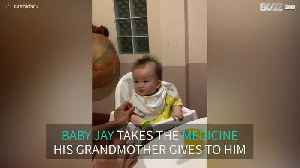 Baby refuses to take medicine [Video]