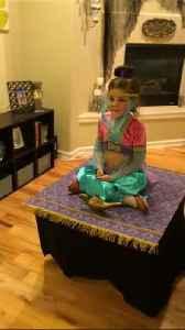 Girl's genie Halloween costume actually takes 'flight' [Video]