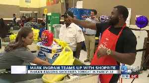 Mark Ingram teams up with ShopRite to 'help bag hunger' [Video]