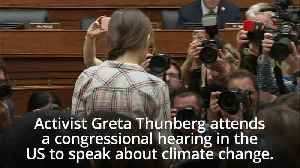 Greta Thunberg tells Congress to 'listen to scientists'