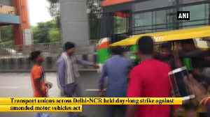 Delhi NCR auto unions observe one day strike against new motor vehicle Act [Video]