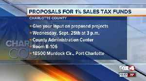 Charlotte County to discuss projects for 1% sales tax funds [Video]