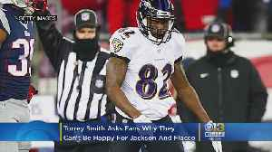 Torrey Smith Asks Ravens Fans Why They Can't Be Happy For Both Lamar Jackson, Joe Flacco [Video]