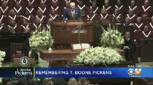 Gov. Abbott, Jerry Jones Honor Texas Tycoon T. Boone Pickens At Memorial Service [Video]