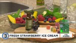 Mr. Food: Fresh Strawberry Ice Cream [Video]