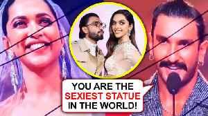 IIFA 2019   Ranveer Singh PRAISES Deepika Padukone's Wax Statue [Video]