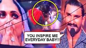 IIFA 2019   Ranveer Singh KISSES Deepika   Ranveer's Best Actor Award Speech For Padmaavat [Video]