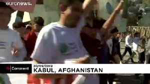 Troops protect people in Afghan climate protest [Video]