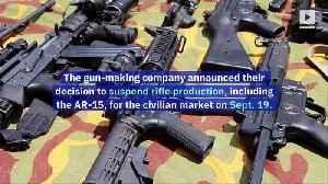 Colt Announces Suspension of AR-15 Production for the Civilian Market [Video]