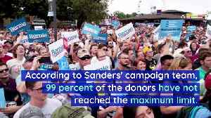 Bernie Sanders Has Received Campaign Donations From 1 Million People [Video]