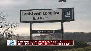 Striking UAW workers getting high-profile support on picket lines [Video]