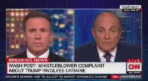 Rudy giuliani and chris cuomo battle over Biden, Trump and Urkaine [Video]