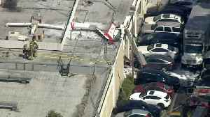 One Dead, One Critically Injured After Plane Crashes into Building in Southern California [Video]