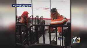 Gritty, 8-Year-Old Superfan Show Off Moves Before Game [Video]