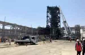 Saudi Arabia shows damage to Aramco oil facility [Video]