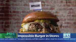 Moneywatch: Impossible Meat Making Its Grocery Store Debut [Video]