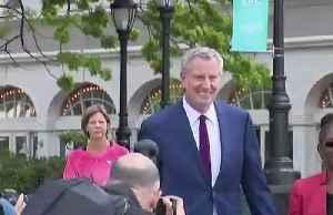 News video: NYC Mayor de Blasio ends 2020 bid