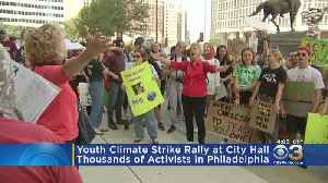 Thousands Descend On Philadelphia's City Hall For Climate Strike Rally [Video]