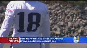 Patriots Release WR Antonio Brown [Video]