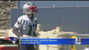 Patriots Release Antonio Brown Amid Controversy [Video]