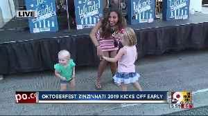 Paola Suro makes friends at Oktoberfest Zinzinnati 2019 [Video]