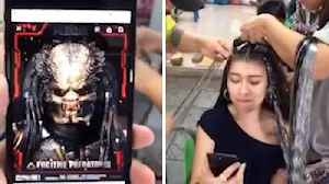 BRAID-LIEN VS PREDATOR! WOMAN LOVES GETTING HER BRAIDS DONE UNTIL HER FIANCÉ MAKES THE UNCANNY COMPARISON TO PREDATOR [Video]